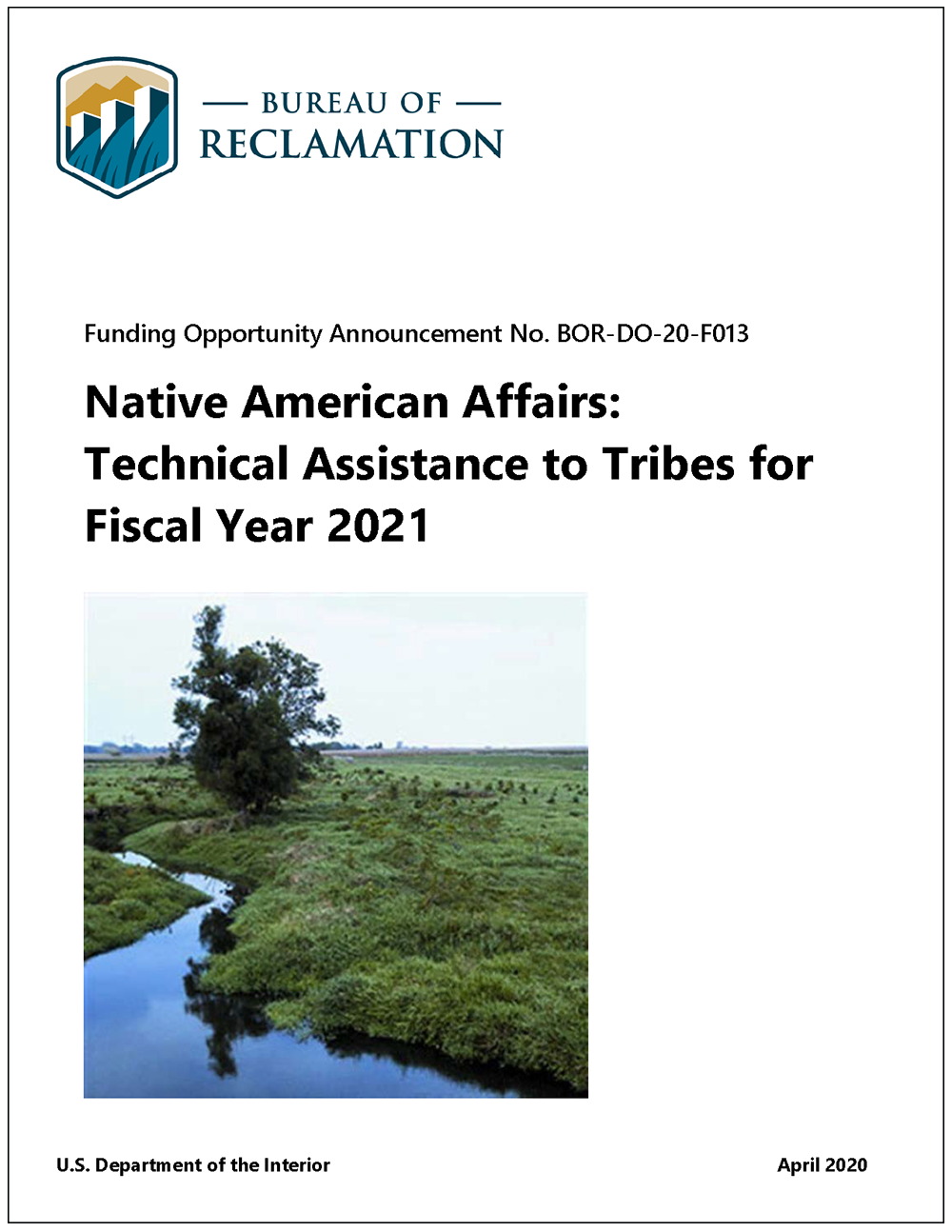 Native American Technical Assistance Funding Opportunity, BOR-DO-20-F013