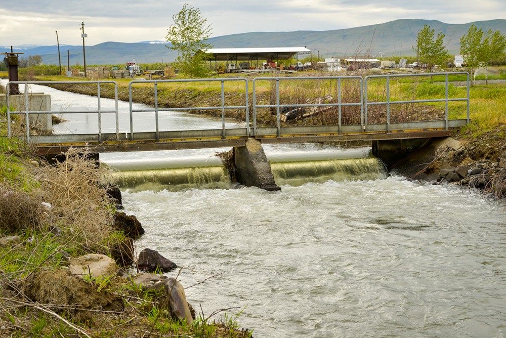 A low-head hydropower generator in a canal in the Yakima basin.