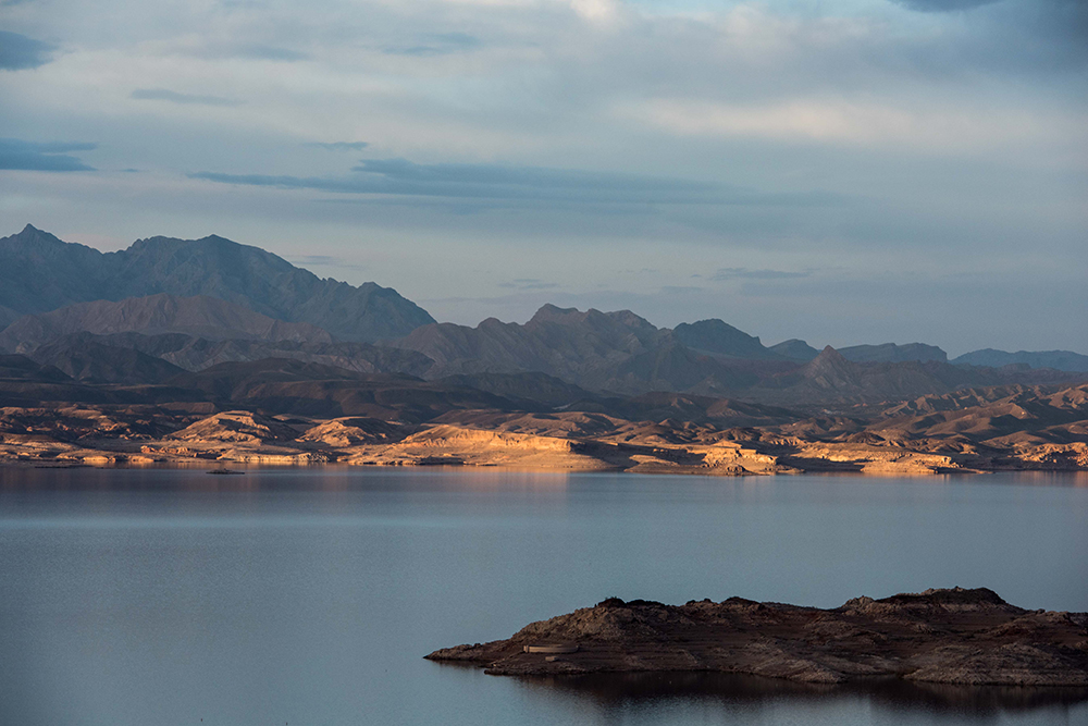Sunset on Lake Mead.