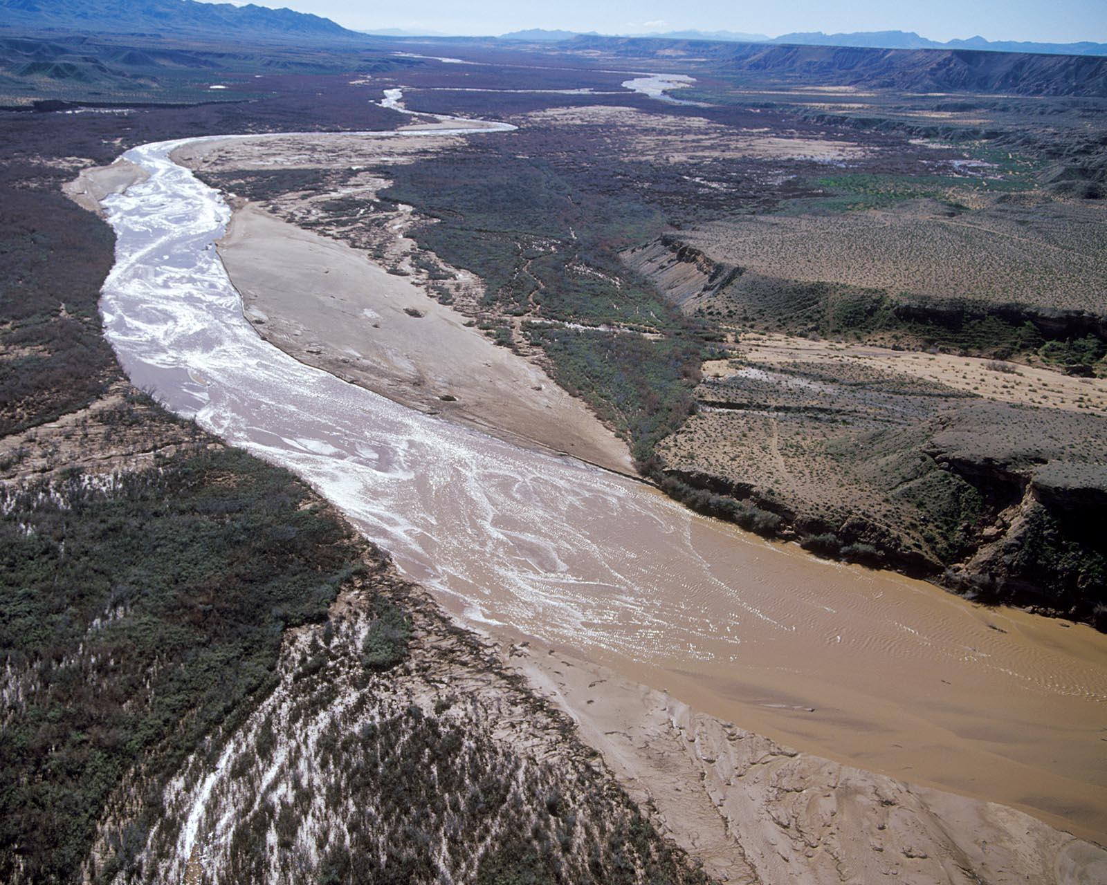 The Virgin River flowing through the high mountain desert.