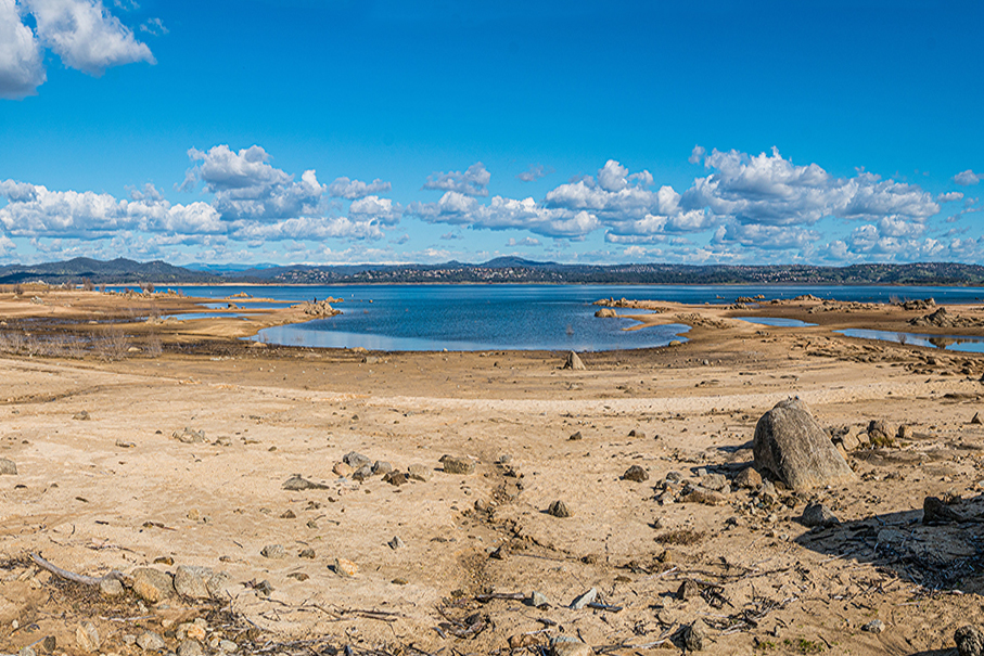 View of Folsom Lake in 2018