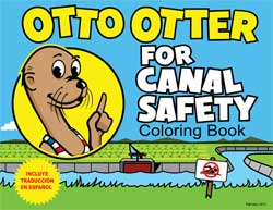 Otto Otter Canal Safety Coloring Book