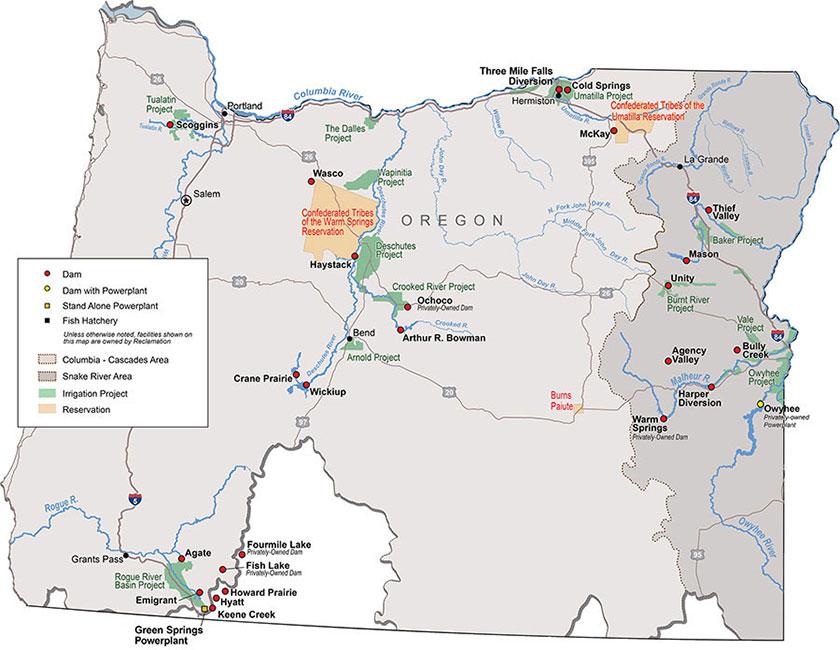 Unity Oregon Map.Ccao Oregon Facilities Bureau Of Reclamation
