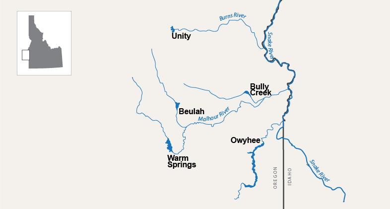 Unity Oregon Map.Hydromet Pacific Northwest Region Bureau Of Reclamation