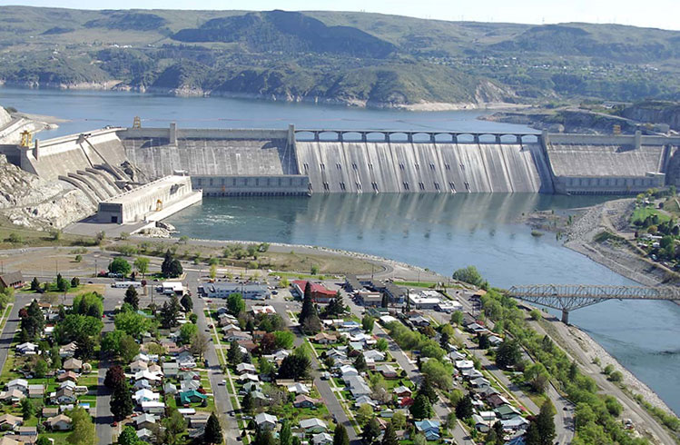 Grand Coulee Third Power Plant and Dam.