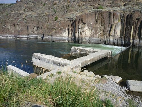 Linderman Dam Remnants