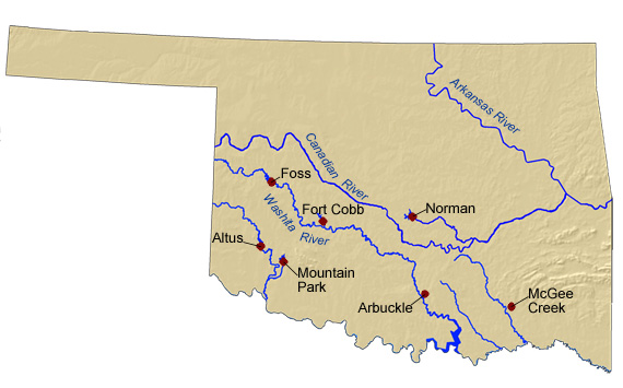 Mountains In Oklahoma Map.Bureau Of Reclamation