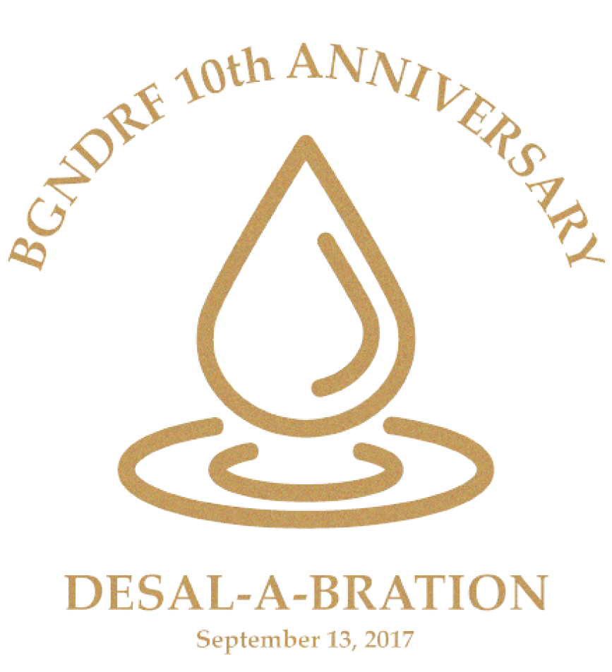 Image of BGNDRF 10th Anniversary with water drop.