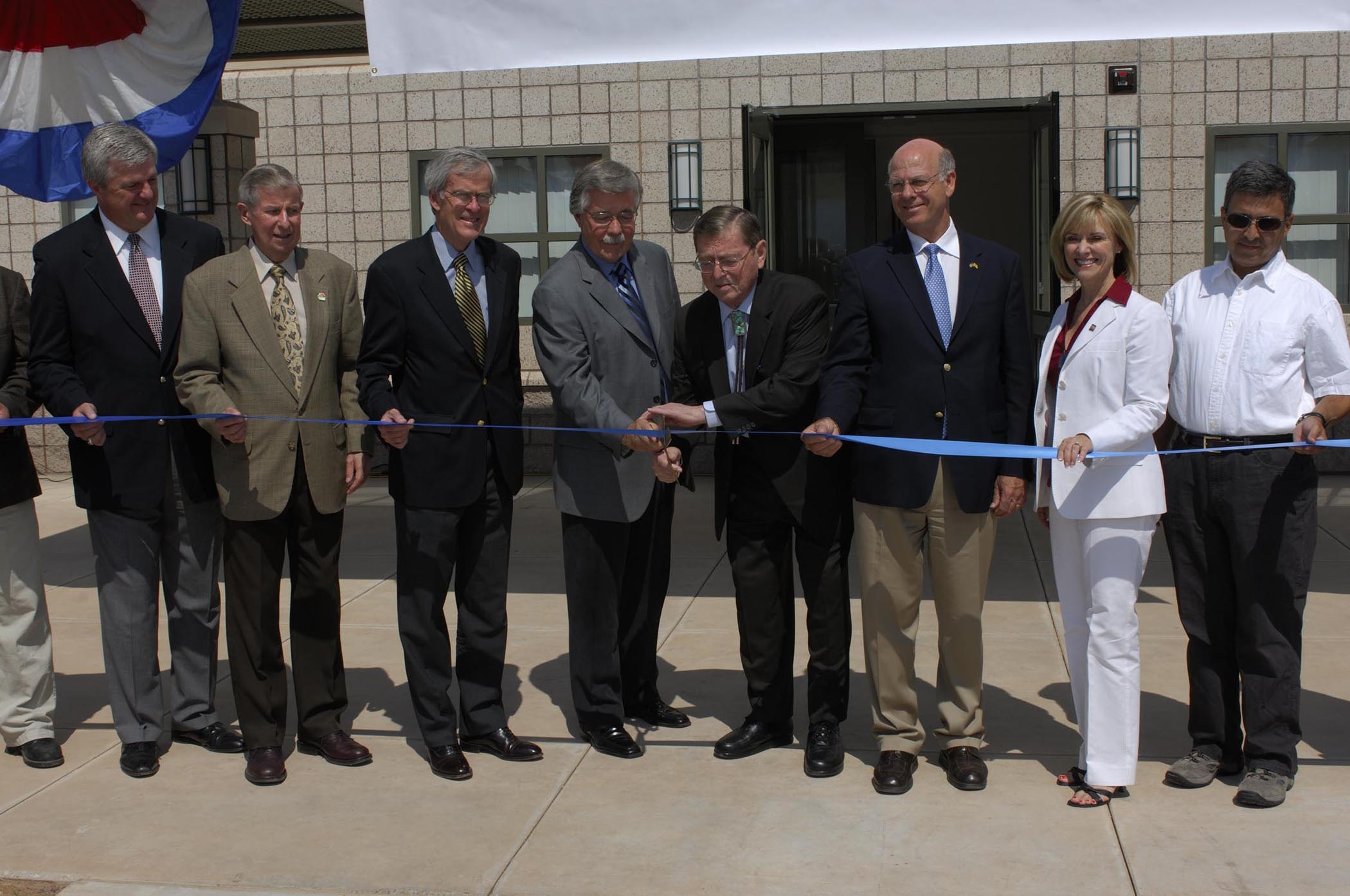 Ribbon Cutting of Brackish Groundwater National Desalination Research Facilty in 2007.