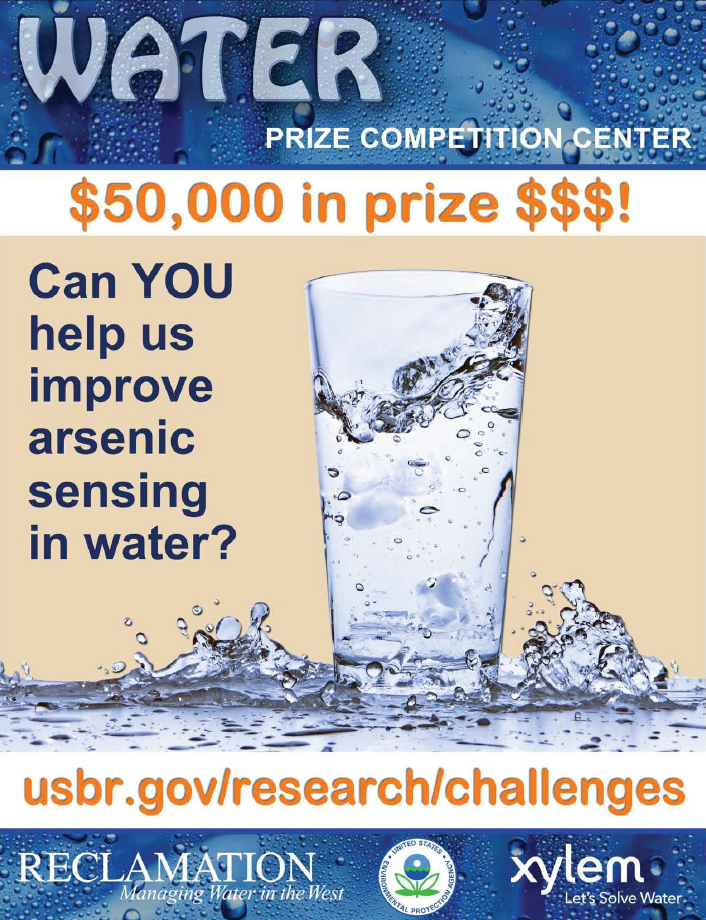 Image of arsenic sensor prize competition poster.