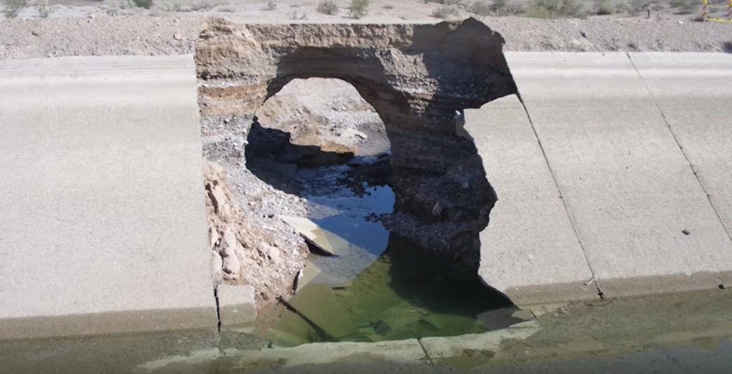 Image of eroded canal wall.