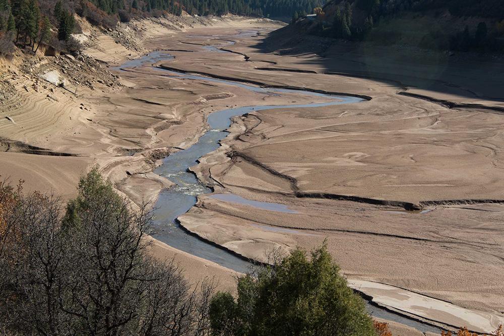 Image of Paonia Reservoir, Colorado sedimentation.