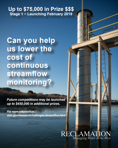 Image of streamflow monitoring prize poster.