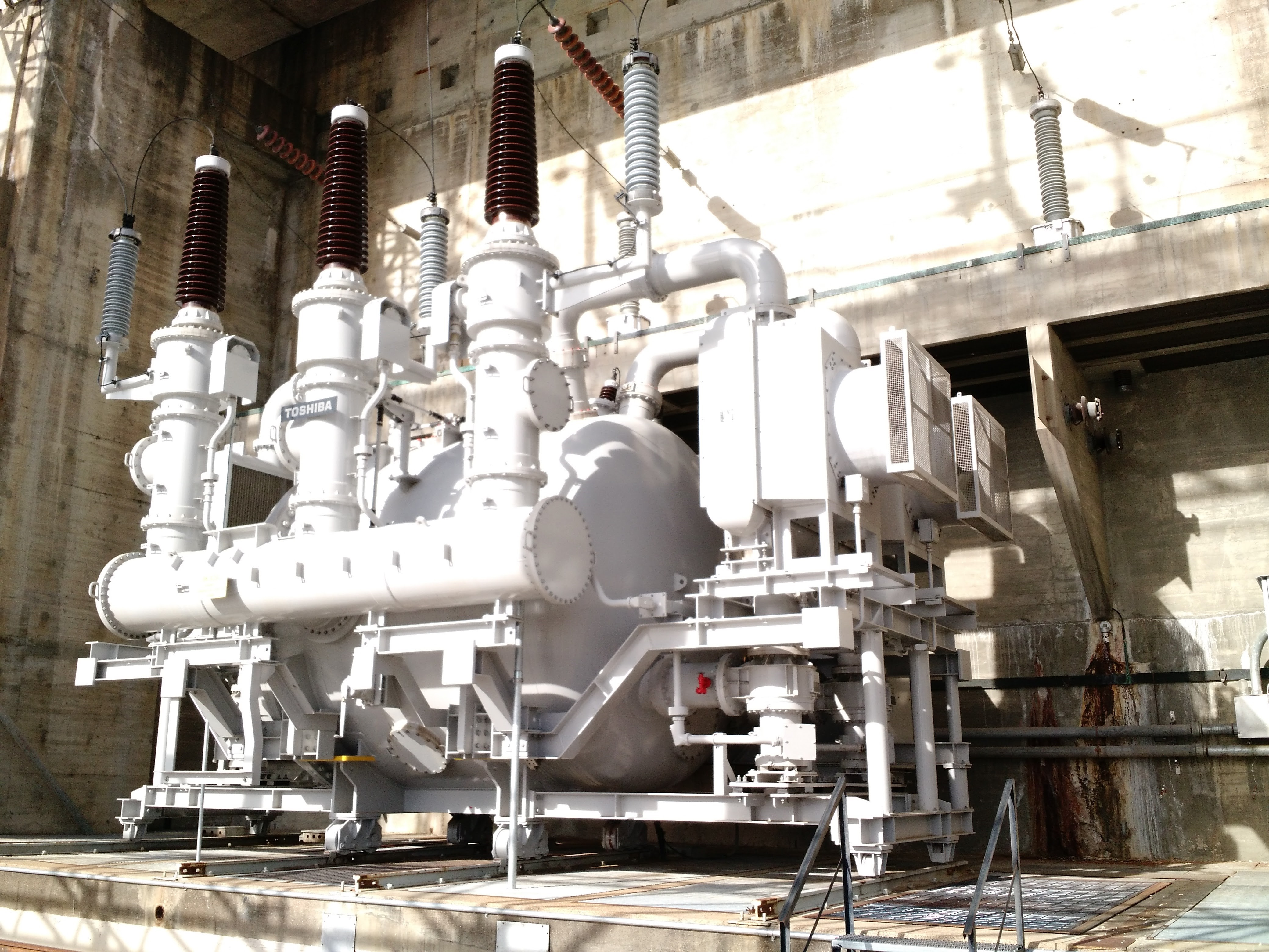 Gas insulated (SF6) power transformer at Osage Power Plant.