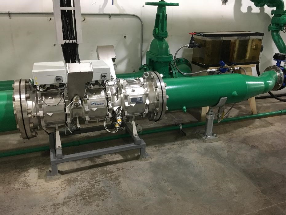 HOD UV unit installed at Parker Dam for reduction of biofouling the generator cooling systems.