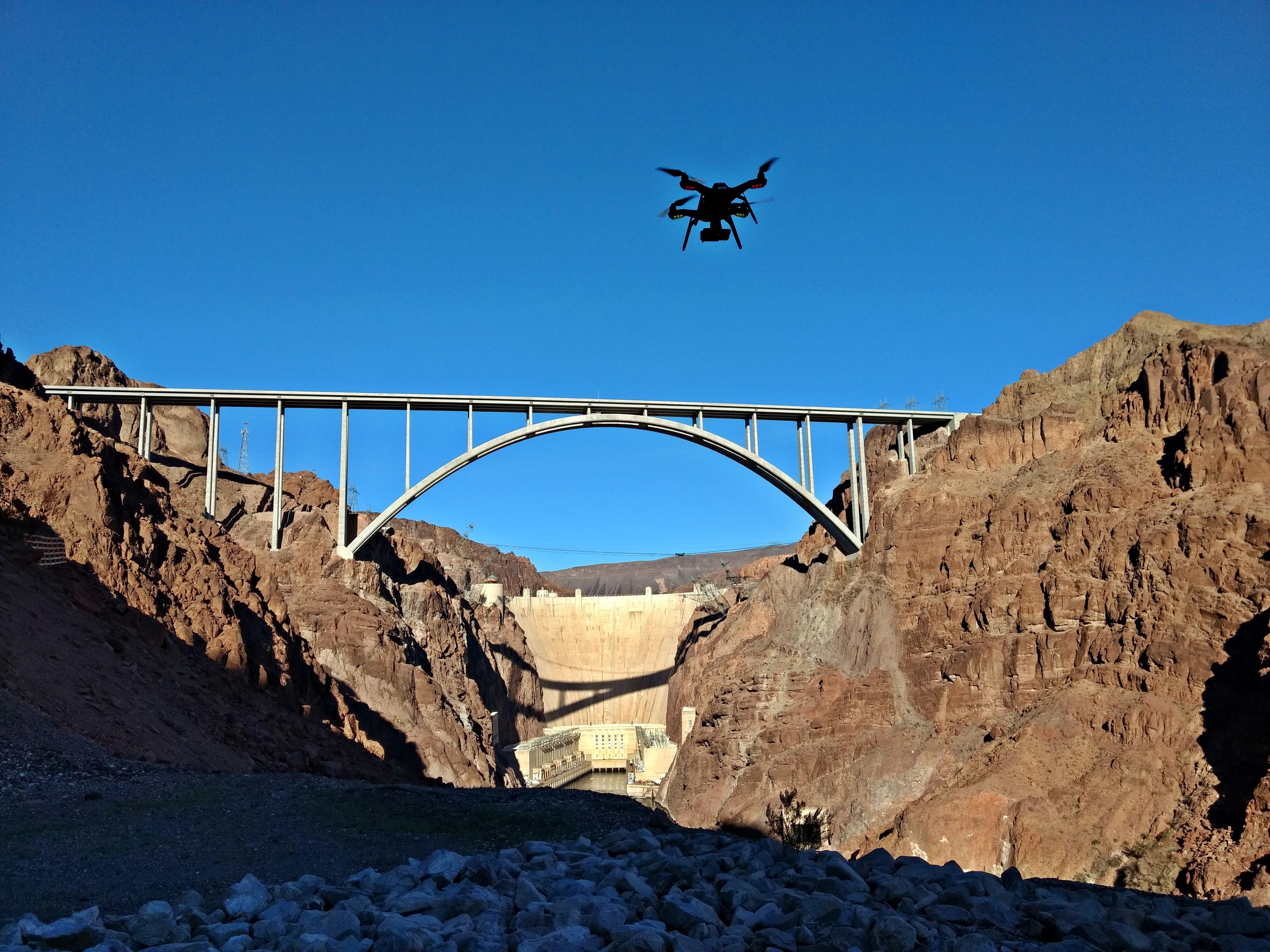 Operating a UAS at Hoover Dam, Nevada/Arizona.