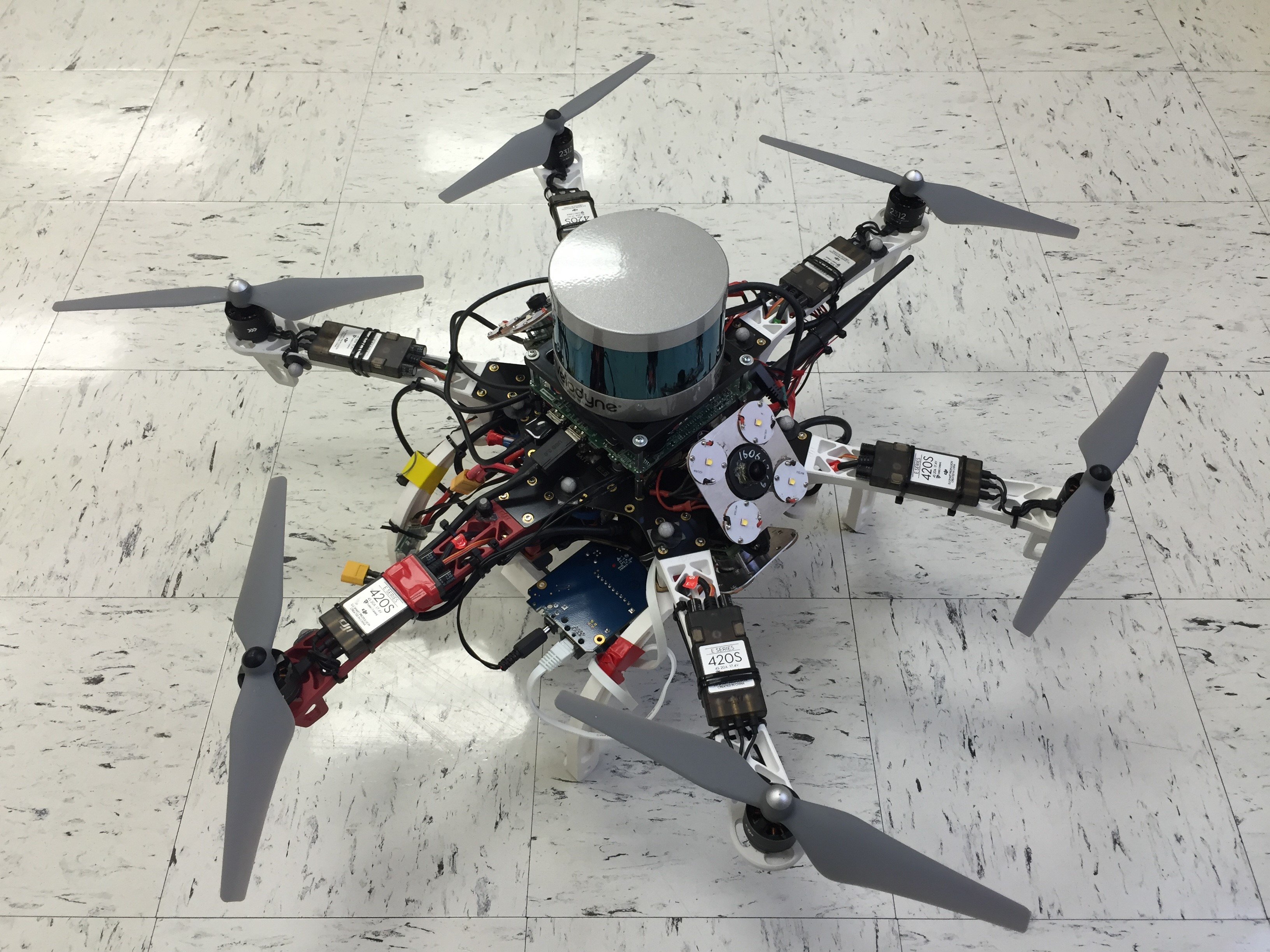 The third version of the autonomous tunnel inspection UAS.