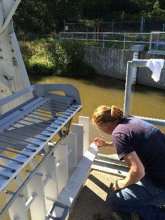 Bobbi Jo Merten, Ph.D., Technical Service Center's Materials and Corrosion Lab Group civil engineer in the field.