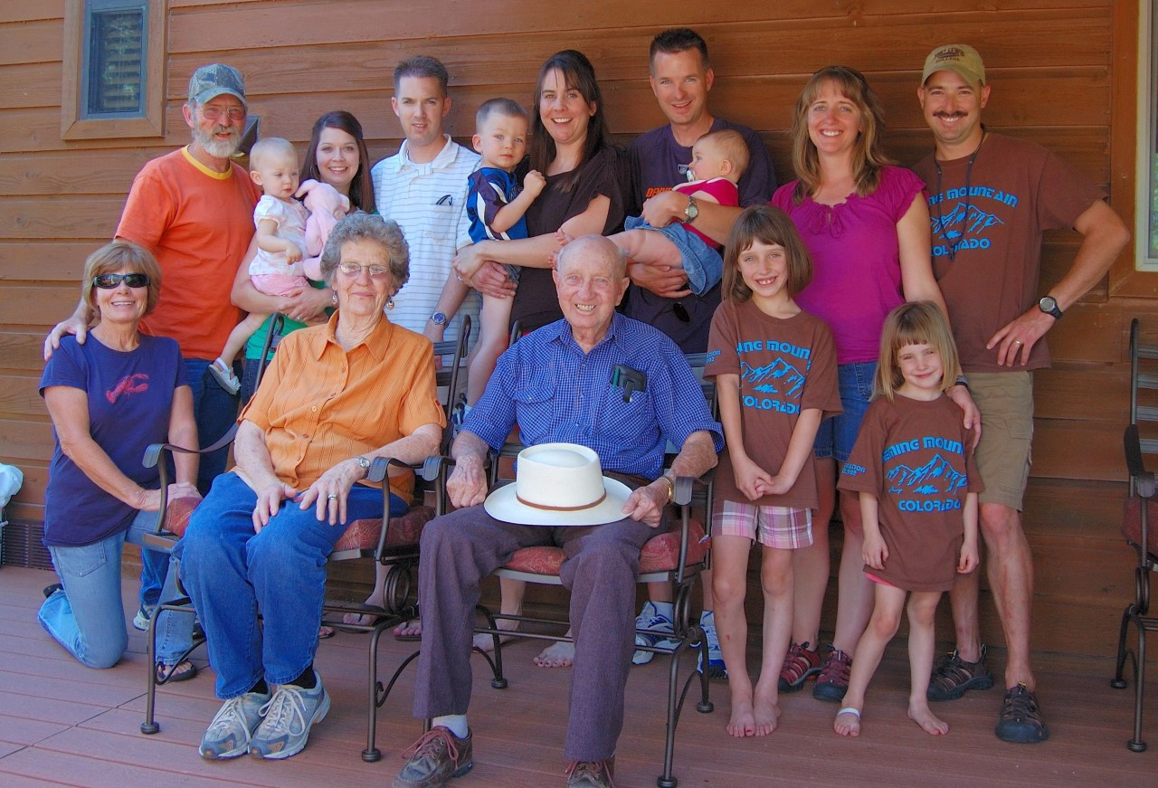 Four generations of the Deming family in 2009