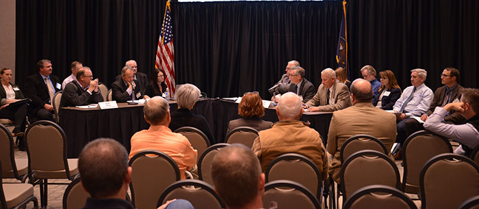 Green River water exchange negotiations (L-R) Brent Rhees, Wayne Pullan, Valerie Deppe and the State of Utah representatives
