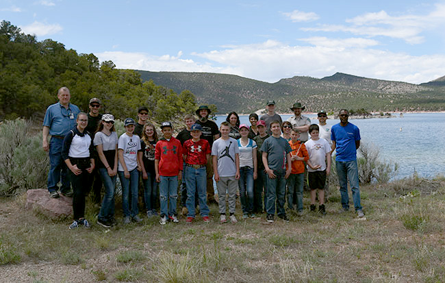 Group photo at the 2018 Flaming Gorge STEM event