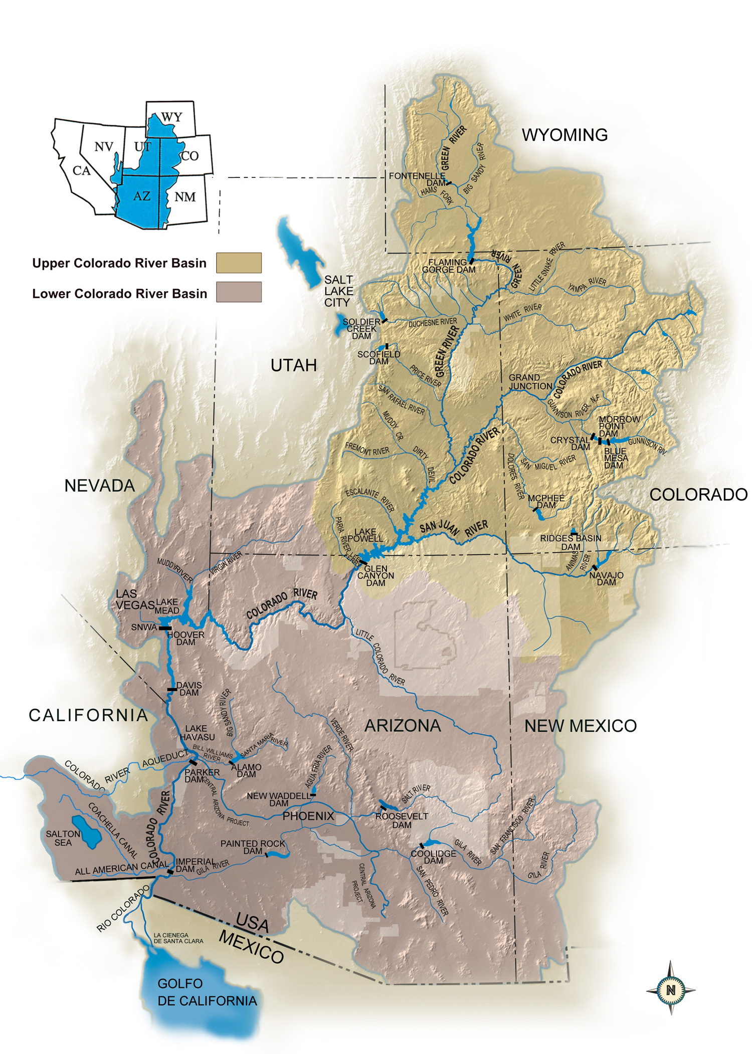 image: Colorado River Basin Map