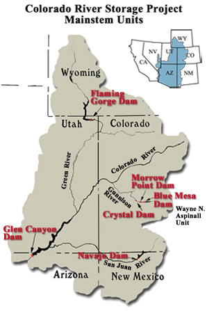 image: Upper Colorado River Basin w/CRSP Projects