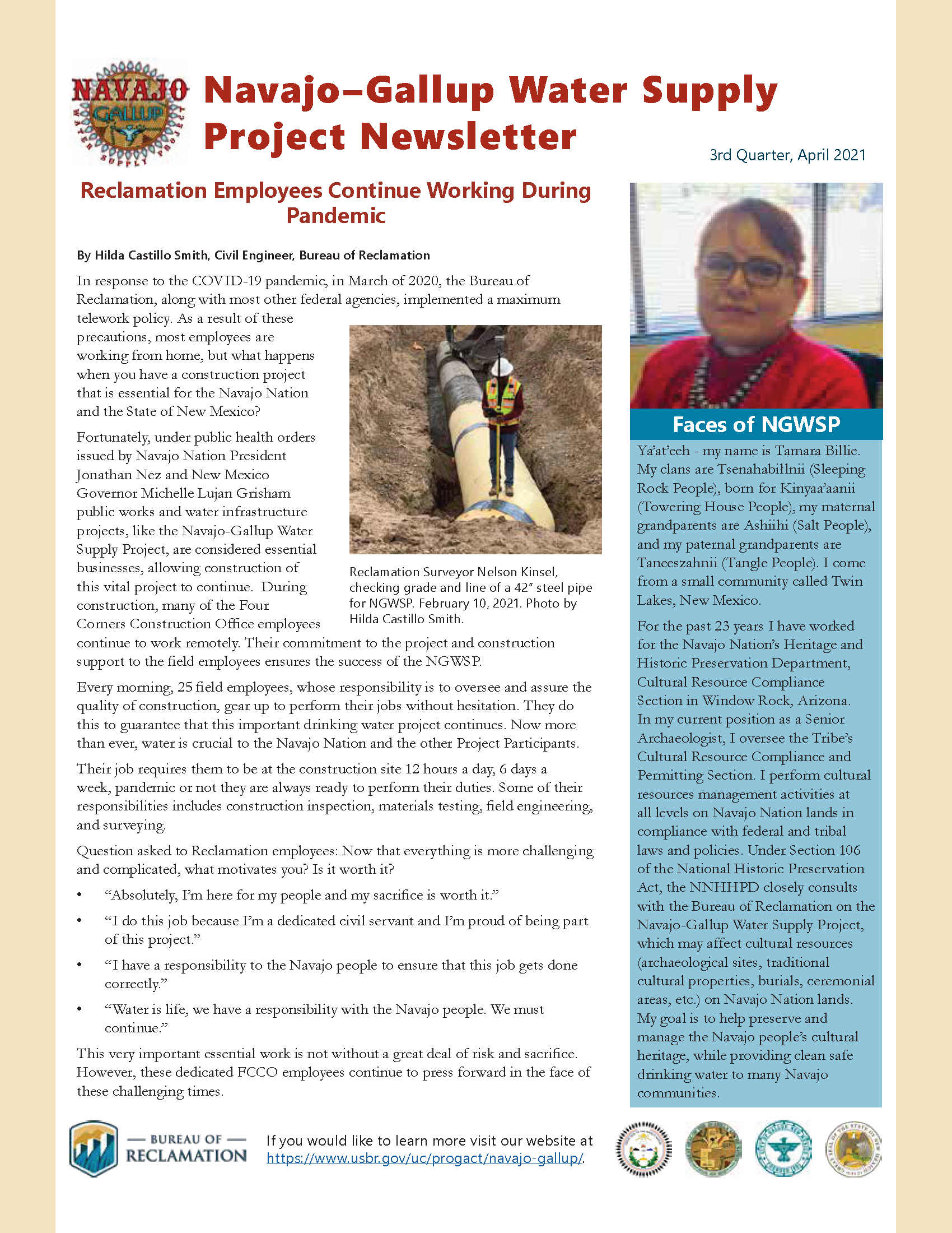 Navajo-Gallup Water Supply Project Newsletter